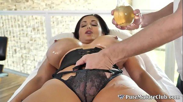 Huge Boobs Cougar Milf Ava Addams Oiled Up Massage Fuck